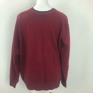 Men's Tommy Hilfiger Golf Maroon Crew Neck Size L